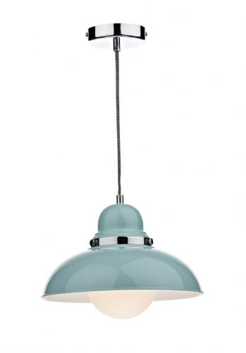 Dynamo 1-light Pale Blue Pendant Ceiling Light (Class 2 Double Insulated) BXDYN0123-17